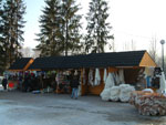 Zakopane Market: sellers of sheepskin products at Zakopane Market