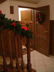 holiday cottage poland dressed for Christmas and New Year