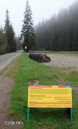 cycle hire in the valley Chocholowska - cheap rates