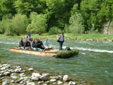 rafting on the Dunajec, one of Poland's rivers