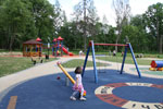 Safe soft surface around the play equipment