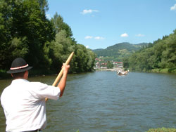 summer on the Dunajec river in south Poland