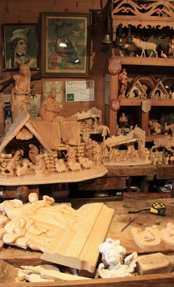 Traditional wooden carvings