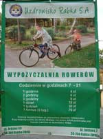cycle hire in Rabka Poland